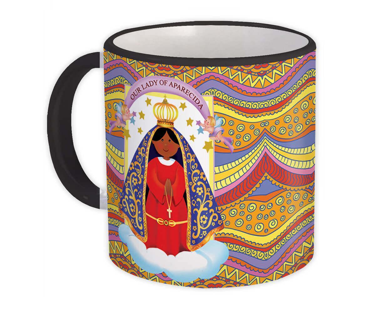 Our Lady Aparecida : Gift Mug Catholic Religious Virgin Saint Mary