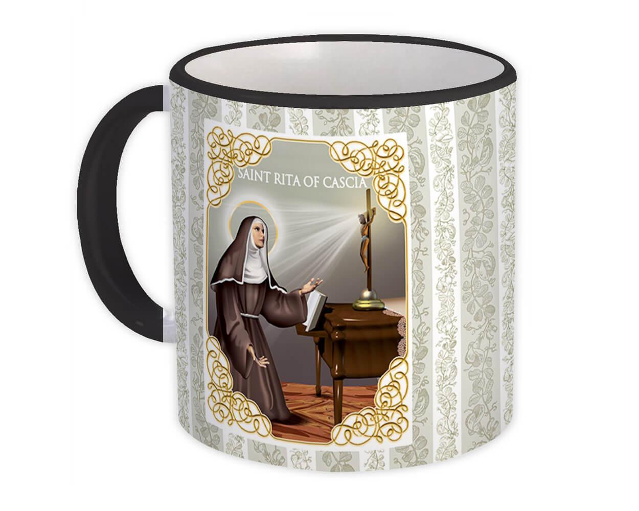 Saint Rita of Cascia : Gift Mug Catholic Religious Virgin
