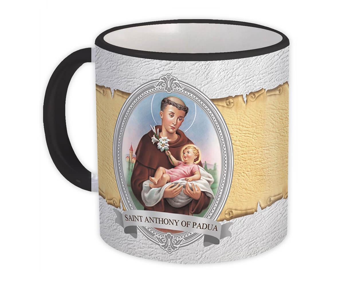 Saint Anthony of Padua : Gift Mug Catholic Religious Religion Classic Faith