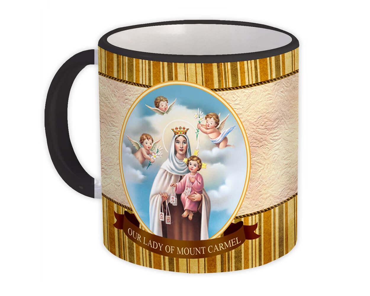 Our Lady of Mount Carmel : Gift Mug Catholic Religious Virgin Saint Mary