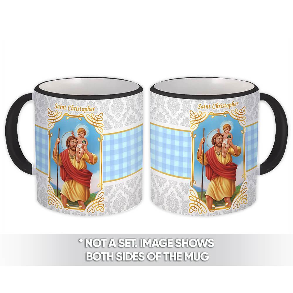 Saint Christopher : Gift Mug Catholic Religious Religion Classic Faith
