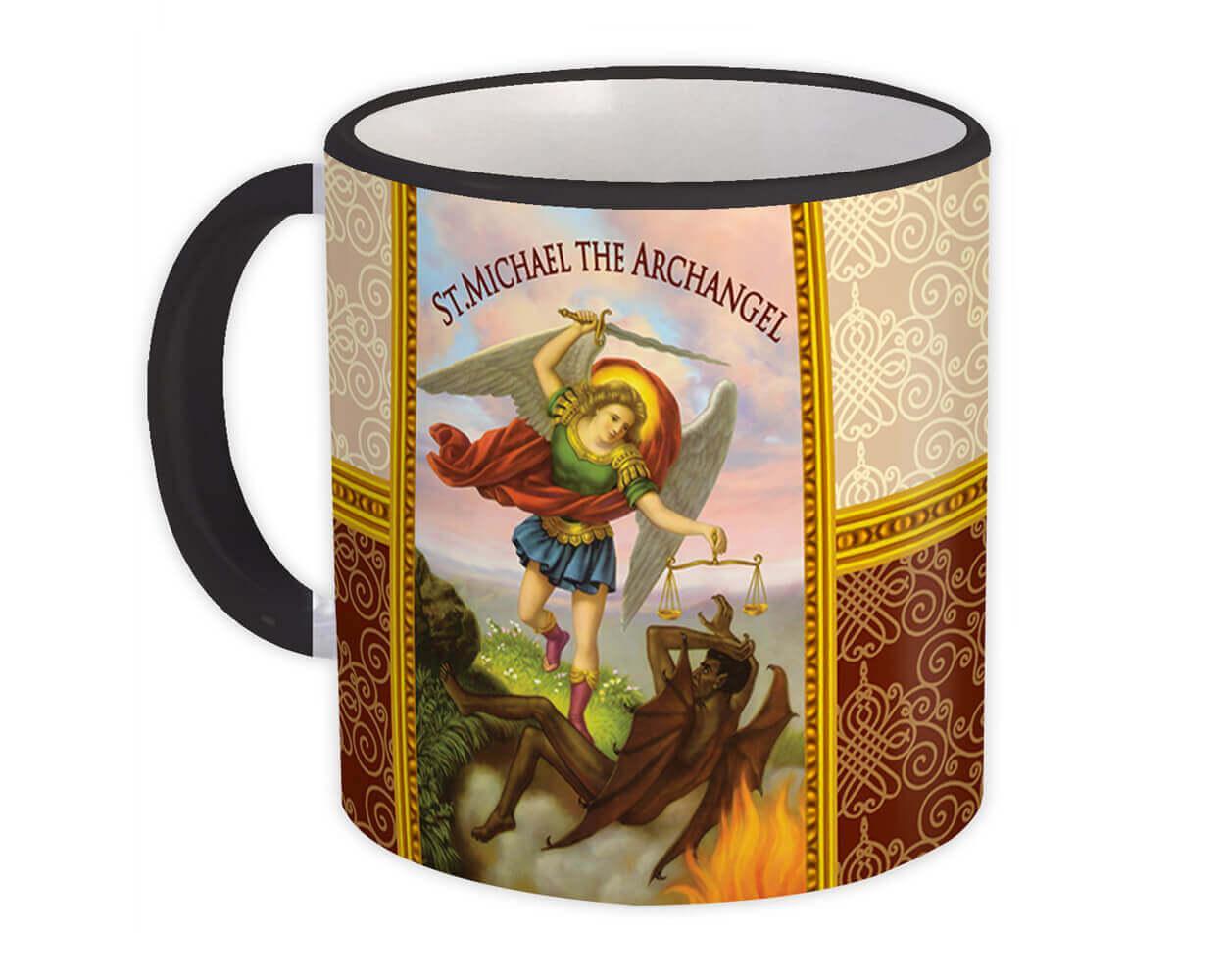 St Michael The Archangel : Gift Mug Angel Catholic Religious Saint
