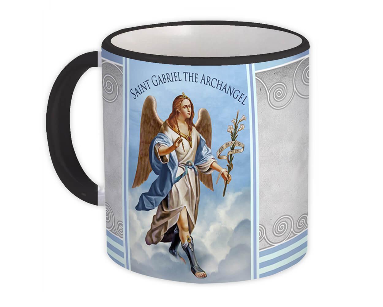 Saint Gabriel The Archangel : Gift Mug Catholic Angel Religious