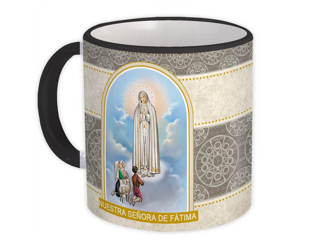 Nuestra Senora de Fatima : Gift Mug Catolica Catolico Santa Virgen Maria Religiosa