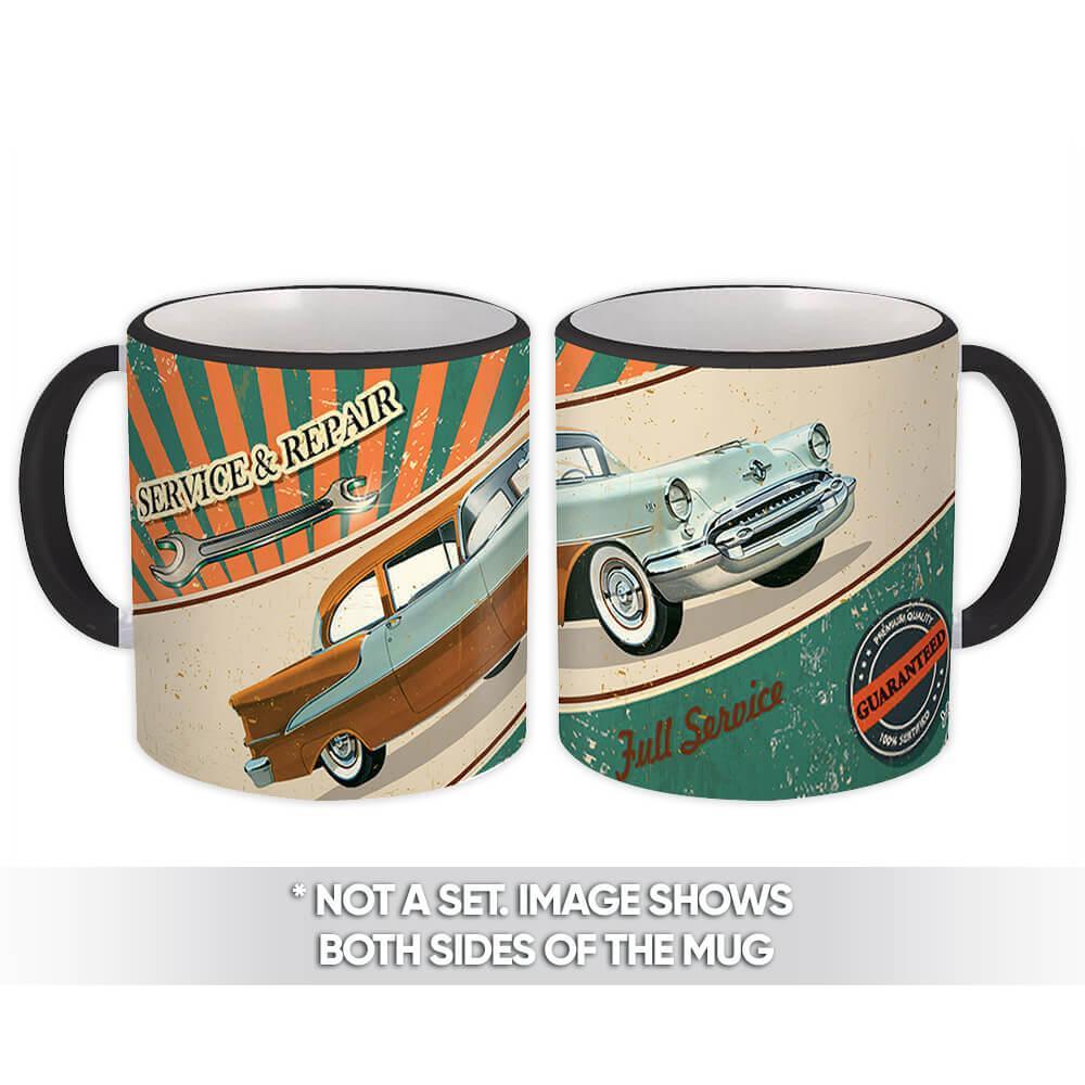 Vintage Car Service & Repair : Gift Mug Garage Dad Grandpa Automobile