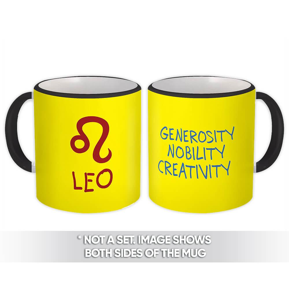 Leo : Gift Mug Zodiac Signs Esoteric Horoscope Astrology