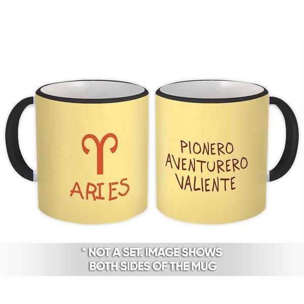 Aries : Gift Mug Signo Zodiaco Esoterico Horóscopo Astrologia