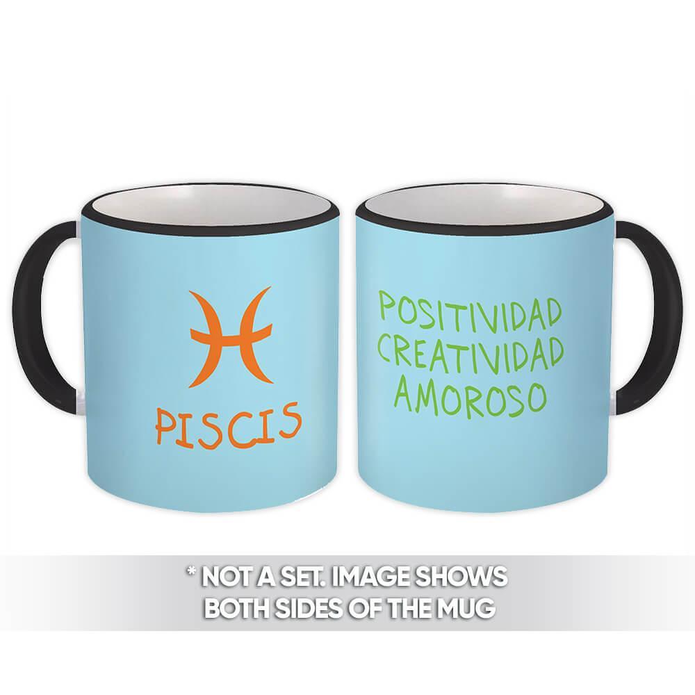 Piscis : Gift Mug Signo Zodiaco Esoterico Horóscopo Astrologia