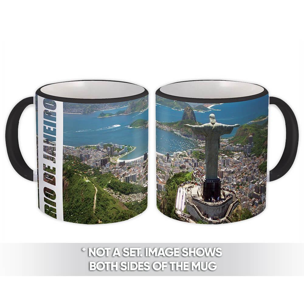 Rio de Janeiro Christ the Redeemer : Gift Mug Brasil Brazil Souvenir
