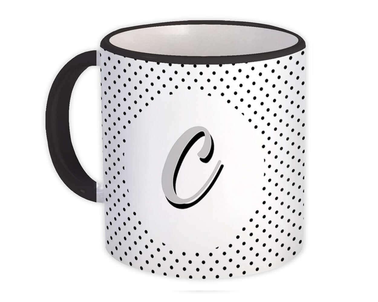 Monogram Letter C : Gift Mug Alphabet Initial Name ABC