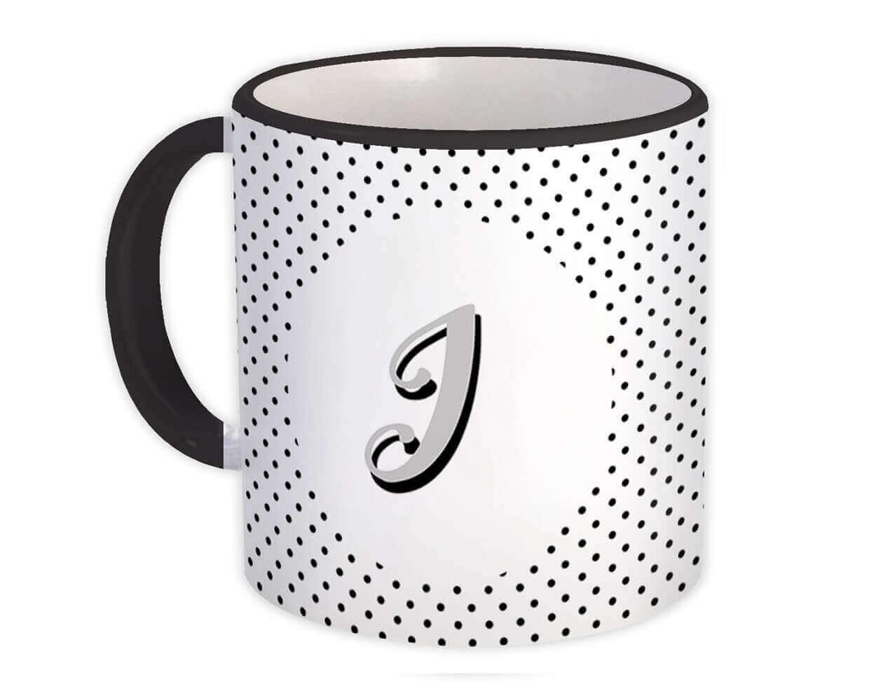 Monogram Letter I : Gift Mug Alphabet Initial Name ABC
