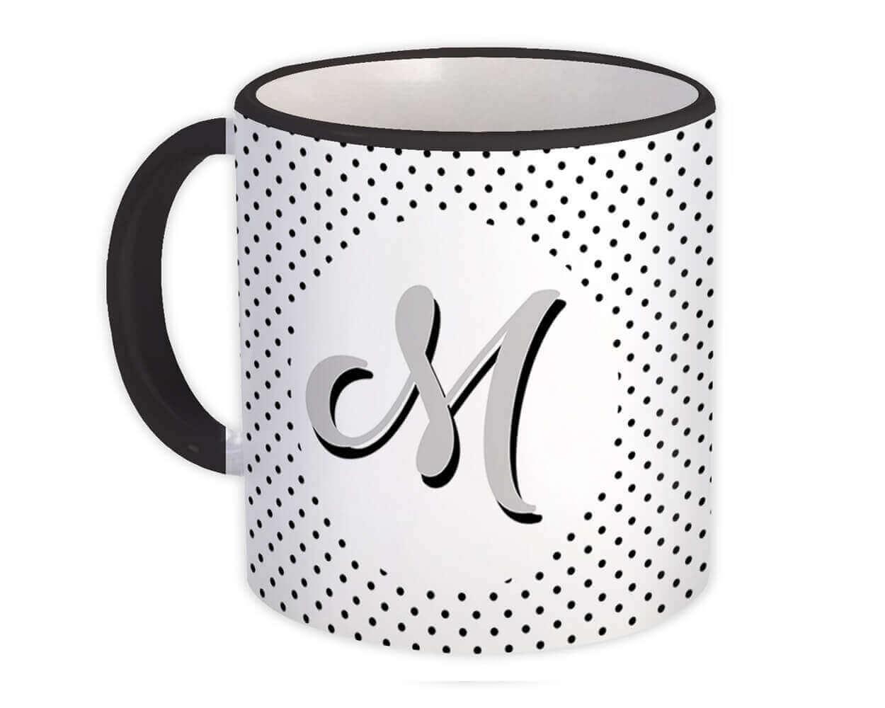 Monogram Letter M : Gift Mug Alphabet Initial Name ABC