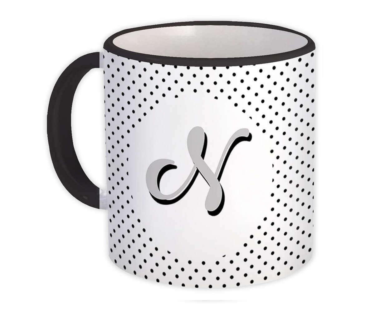 Monogram Letter N : Gift Mug Alphabet Initial Name ABC