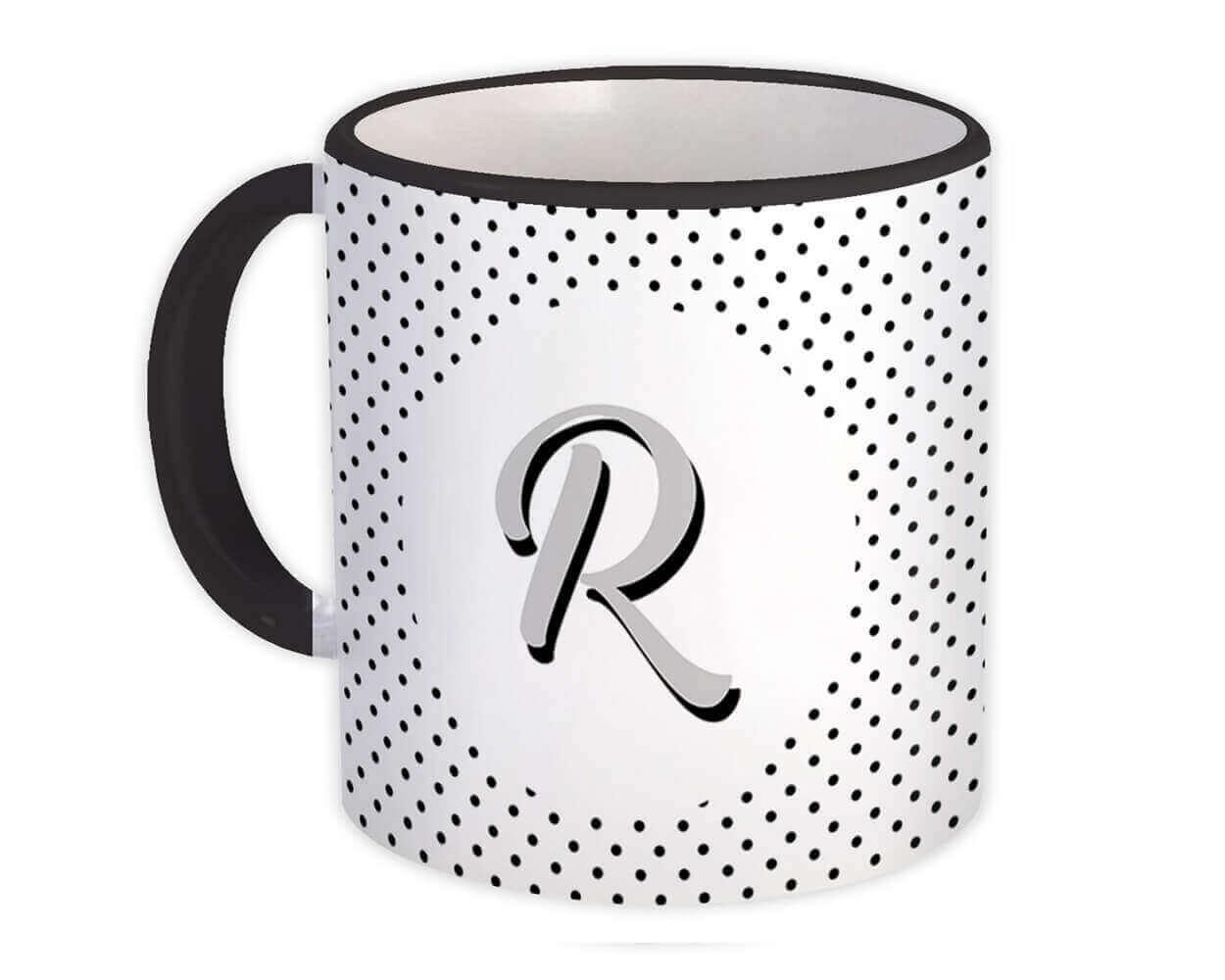 Monogram Letter R : Gift Mug Alphabet Initial Name ABC