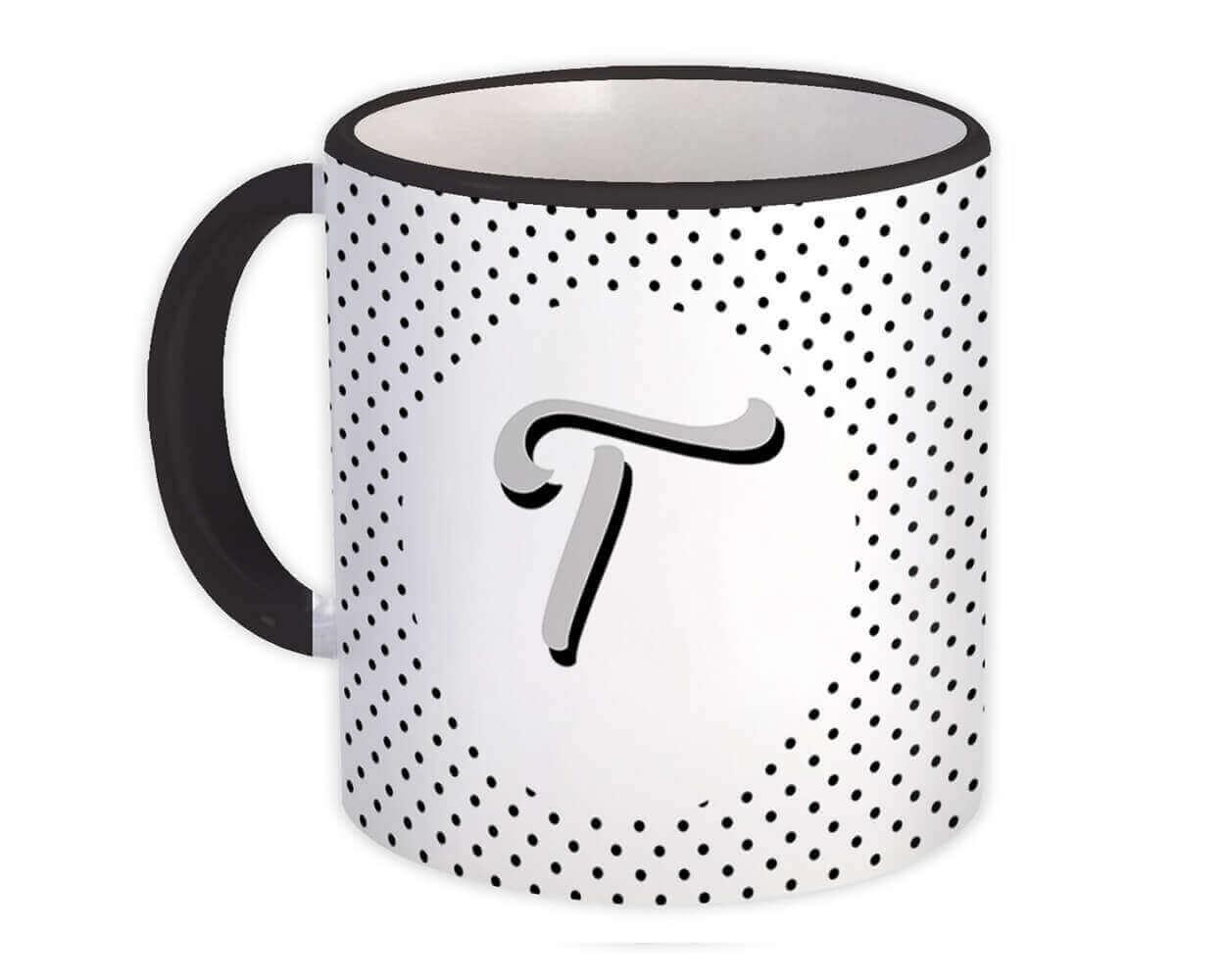 Monogram Letter T : Gift Mug Alphabet Initial Name ABC