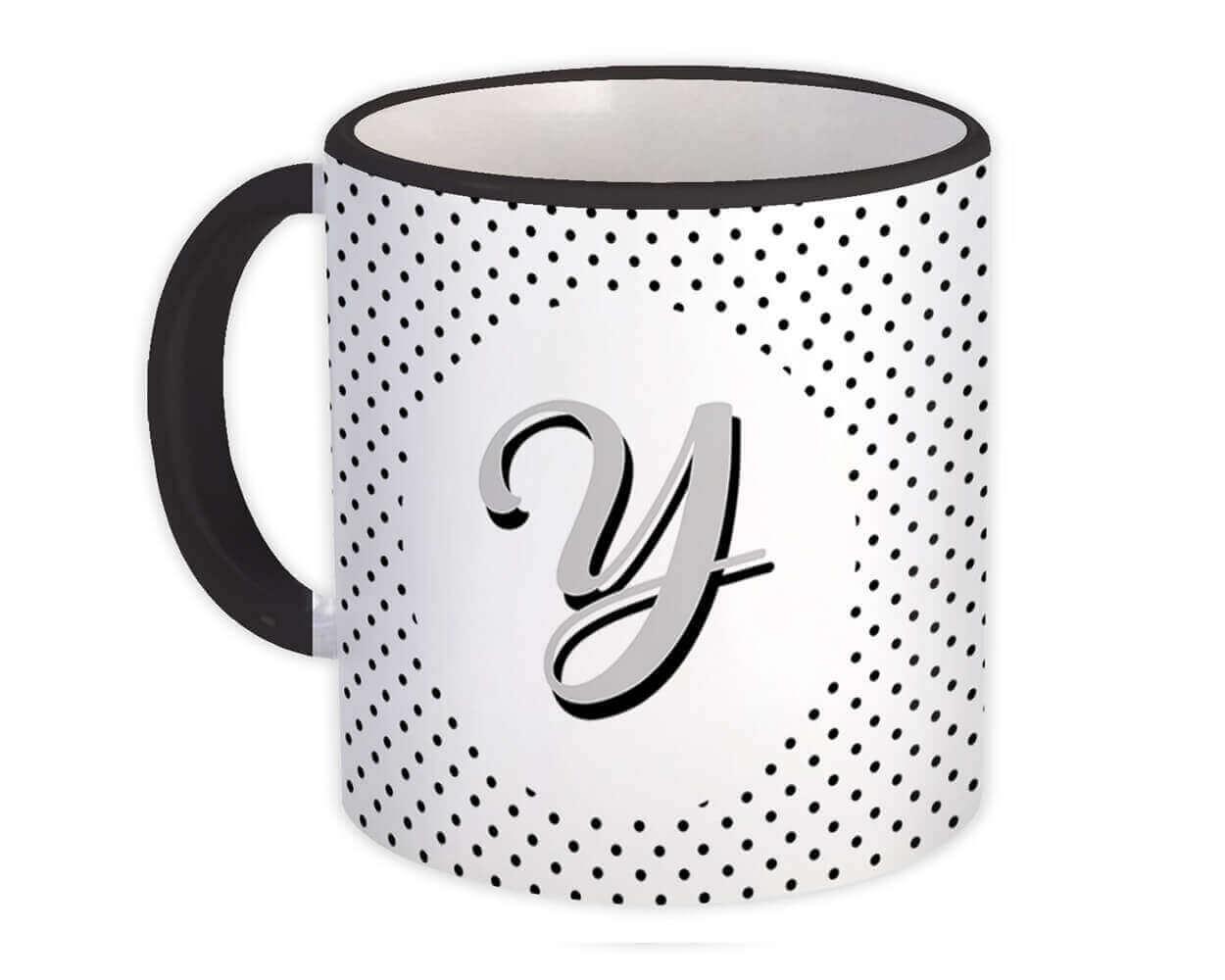Monogram Letter Y : Gift Mug Alphabet Initial Name ABC