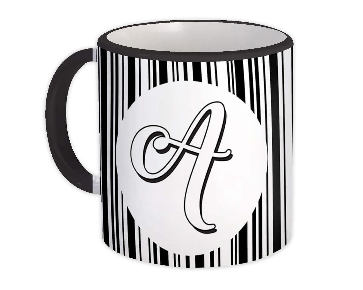 Monogram Letter A : Gift Mug Alphabet Initial Name ABC