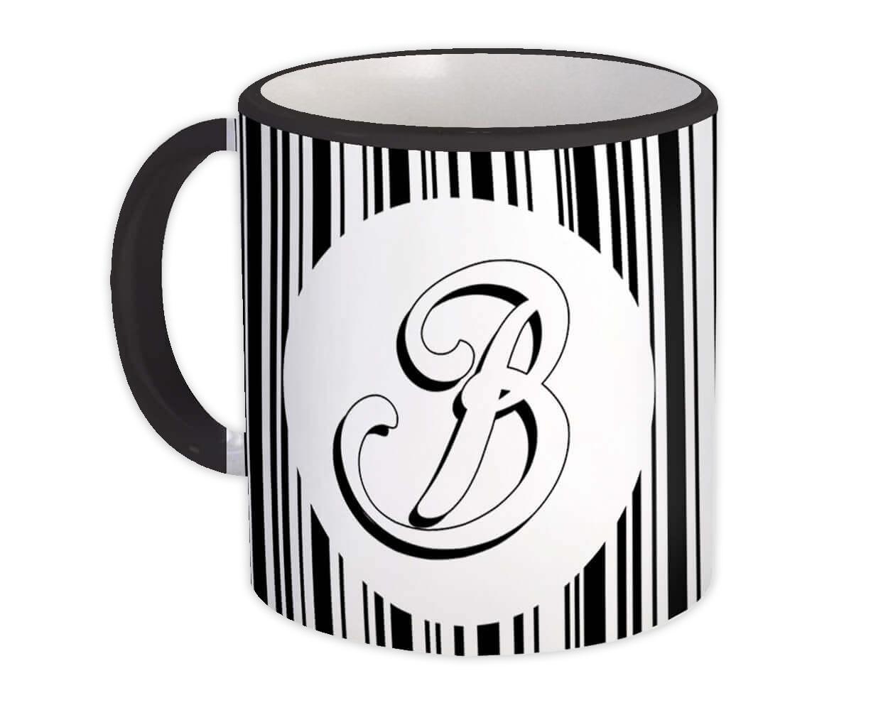 Monogram Letter B : Gift Mug Alphabet Initial Name ABC