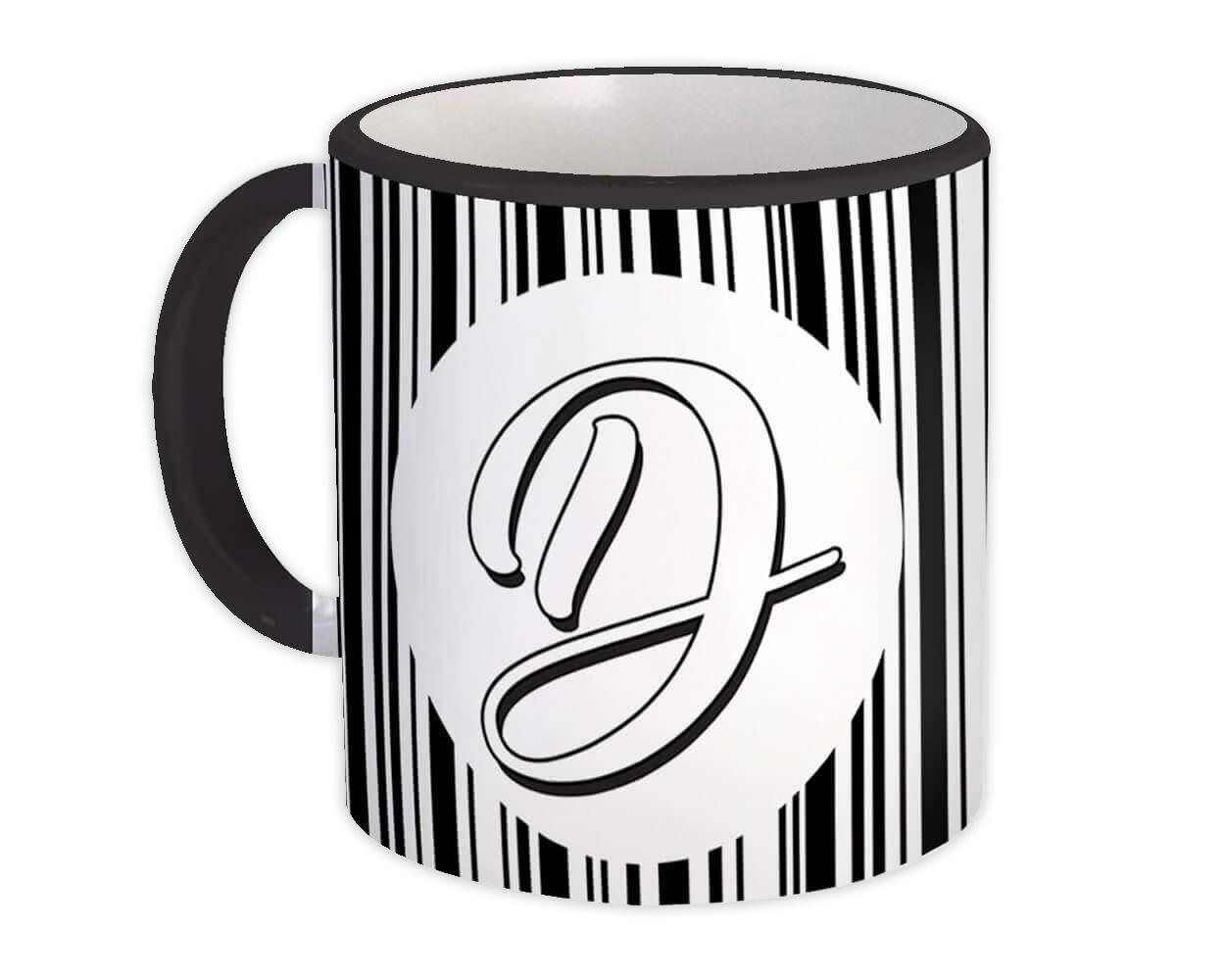 Monogram Letter D : Gift Mug Alphabet Initial Name ABC