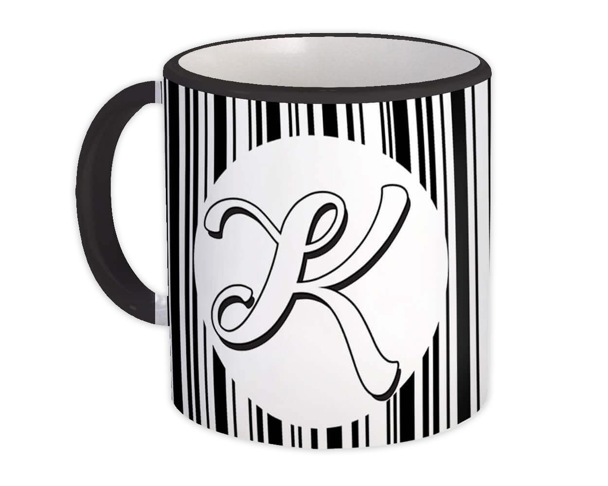 Monogram Letter K : Gift Mug Alphabet Initial Name ABC