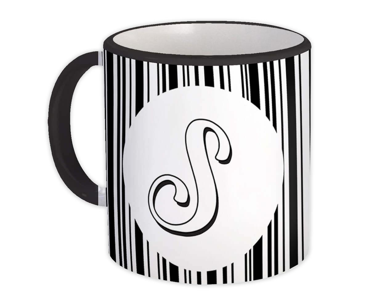 Monogram Letter S : Gift Mug Alphabet Initial Name ABC