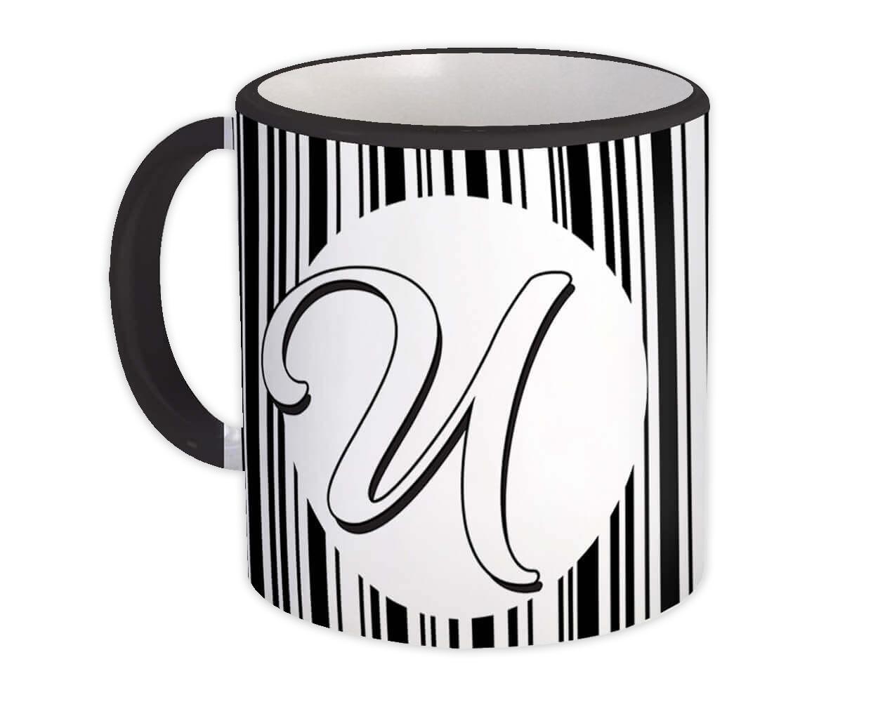 Monogram Letter U : Gift Mug Alphabet Initial Name ABC