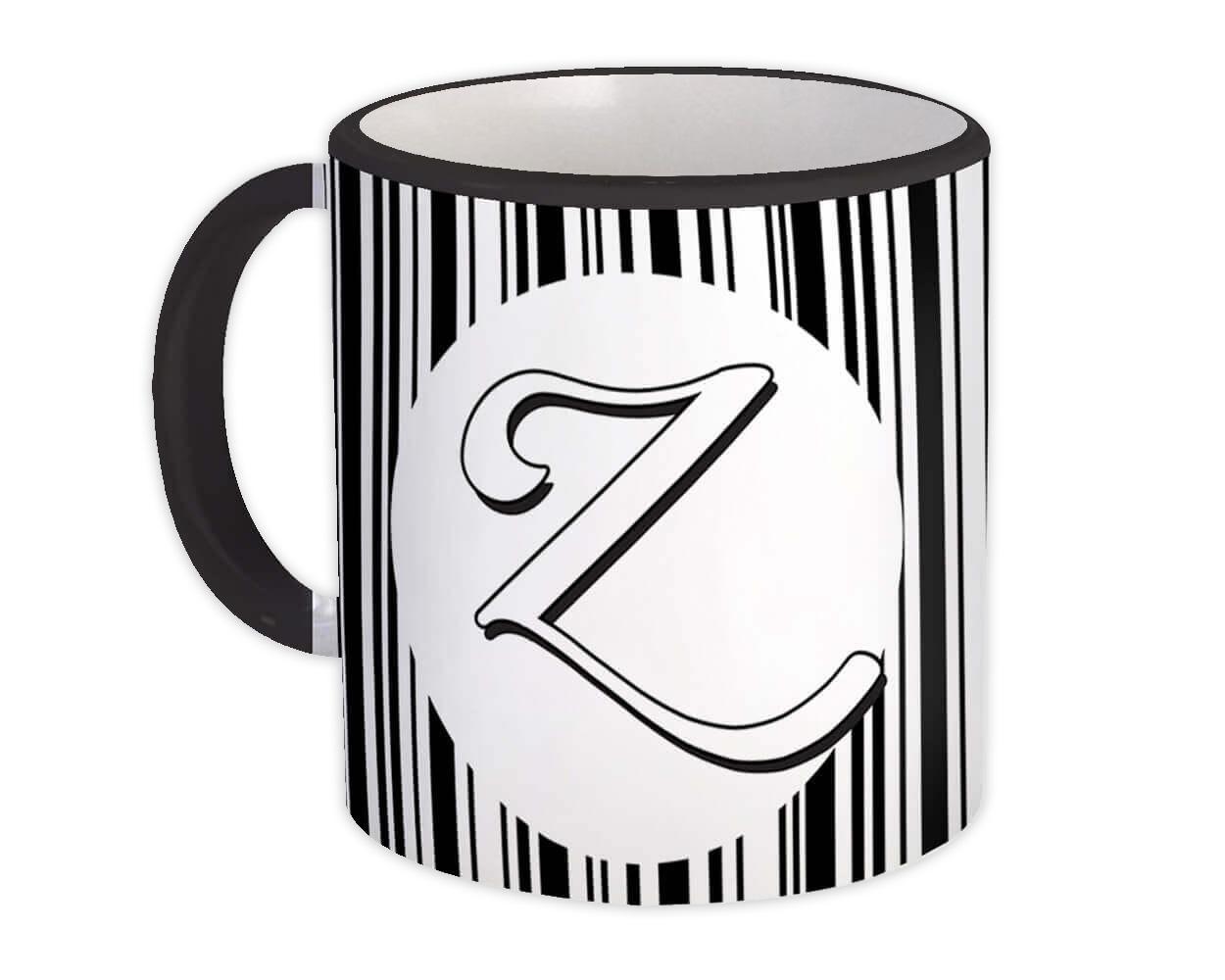 Monogram Letter Z : Gift Mug Alphabet Initial Name ABC
