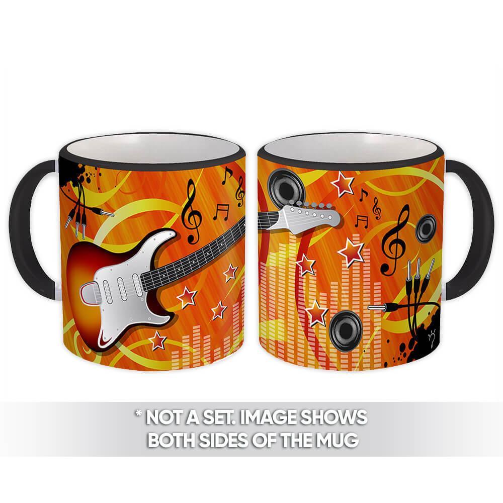 Guitar : Gift Mug Rock Musician Music Young Teen Instrument