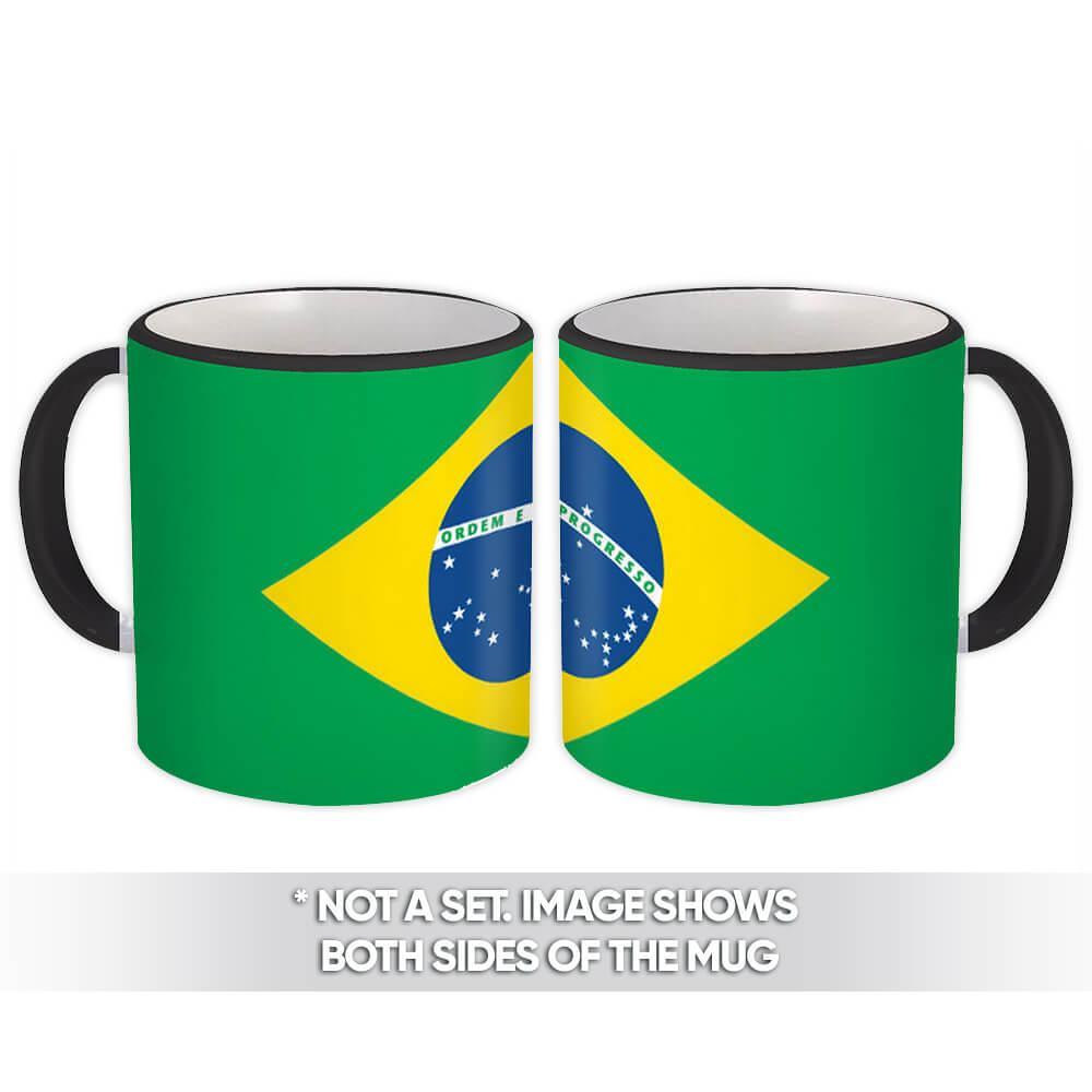 Flag of Brazil : Gift Mug Brasil Brazilian Country Crest