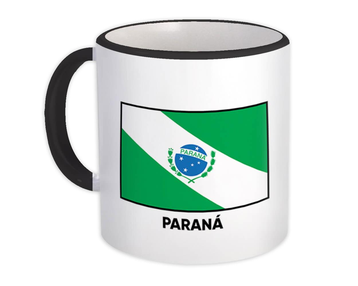 Parana : Gift Mug Brazil Flag Country State Brasil Estado