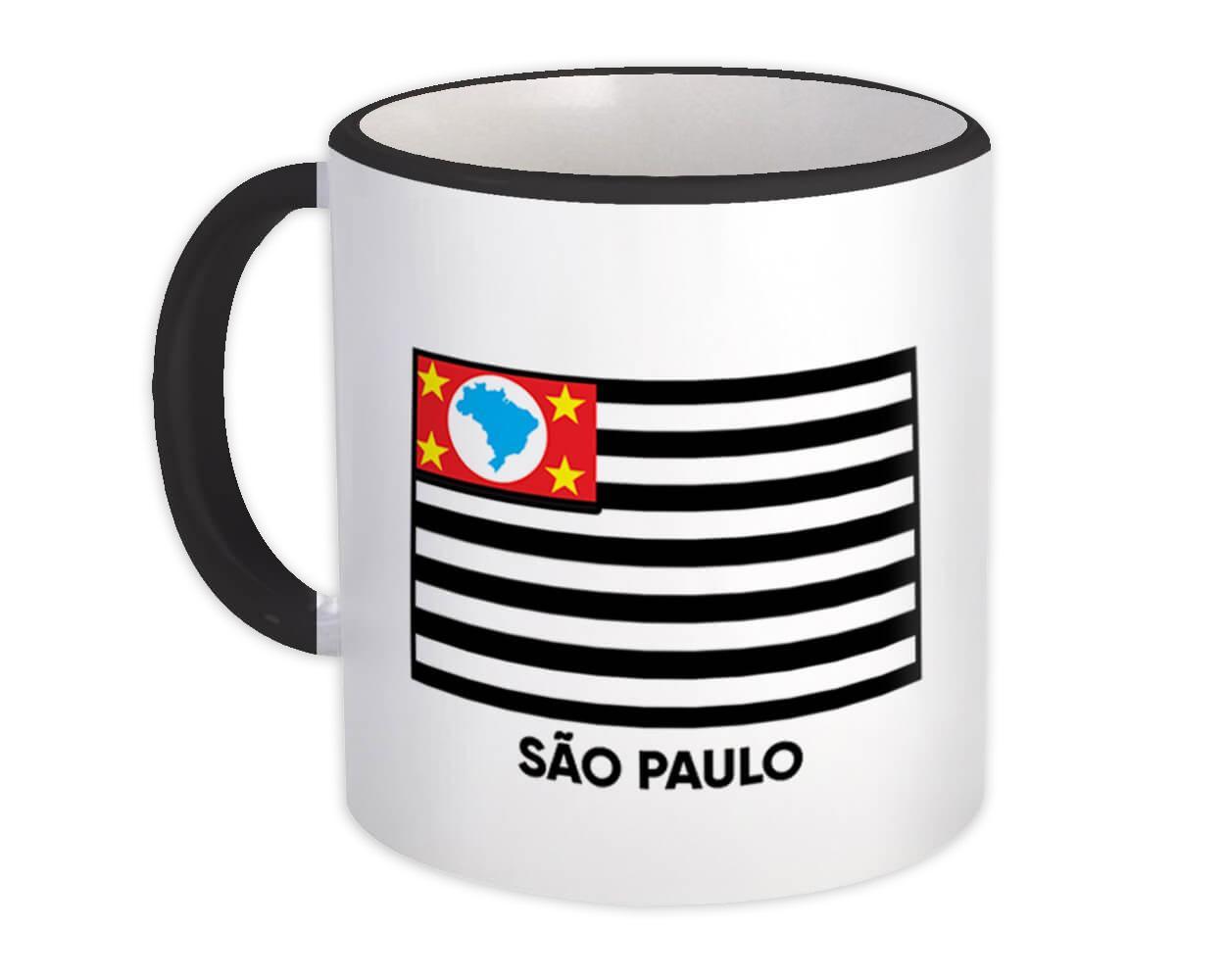 Sao Paulo : Gift Mug Brazil Flag Country State Brasil Estado