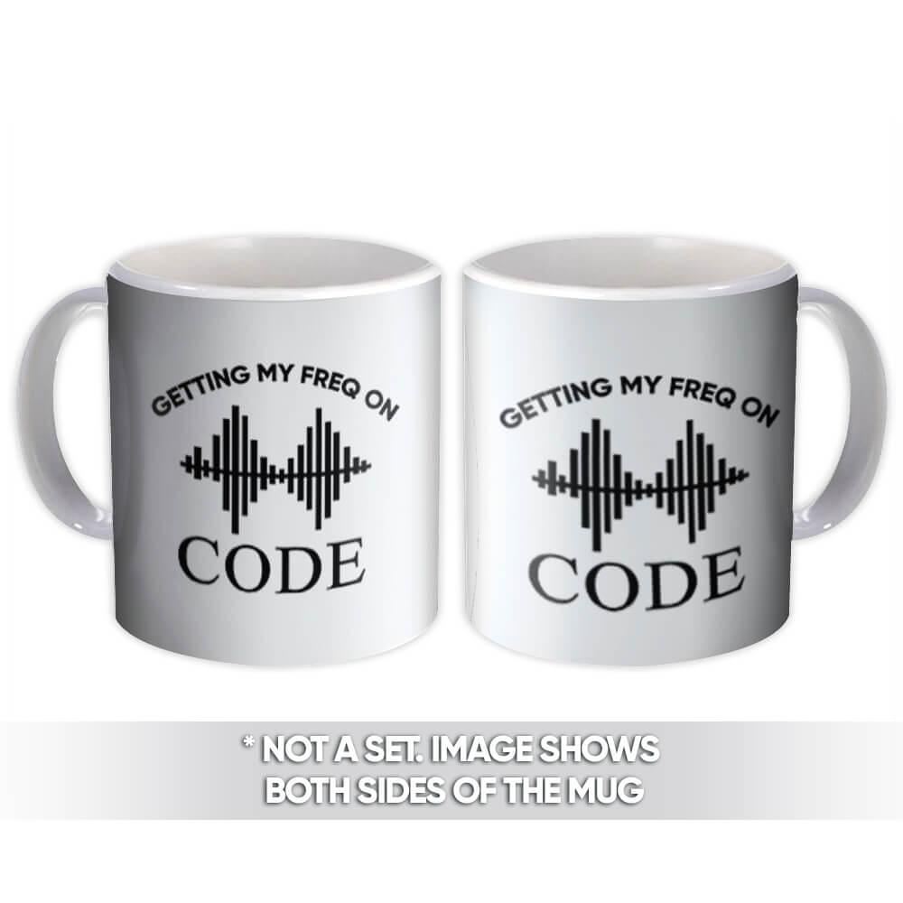 Getting My Freq On Waves : Gift Mug Ham Radio Hobby Amateur Personalized Customizable
