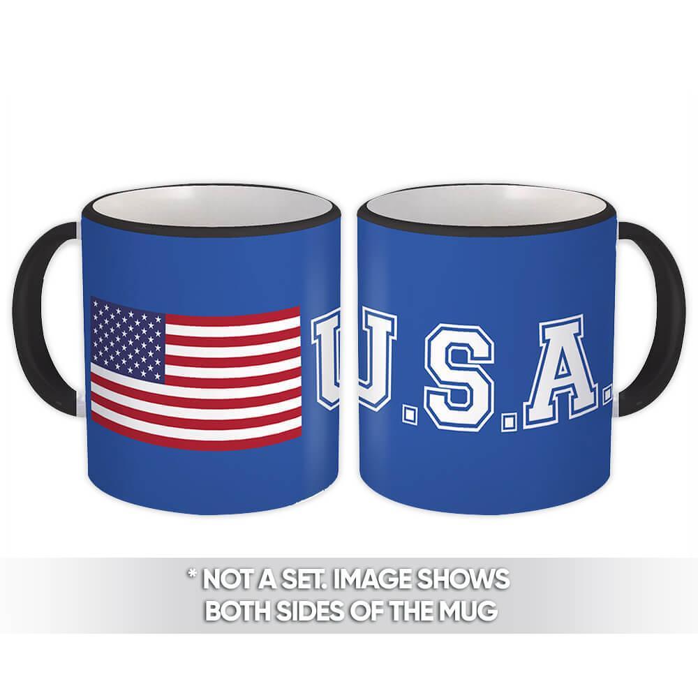 American Flag U.S.A. : Gift Mug United States of America