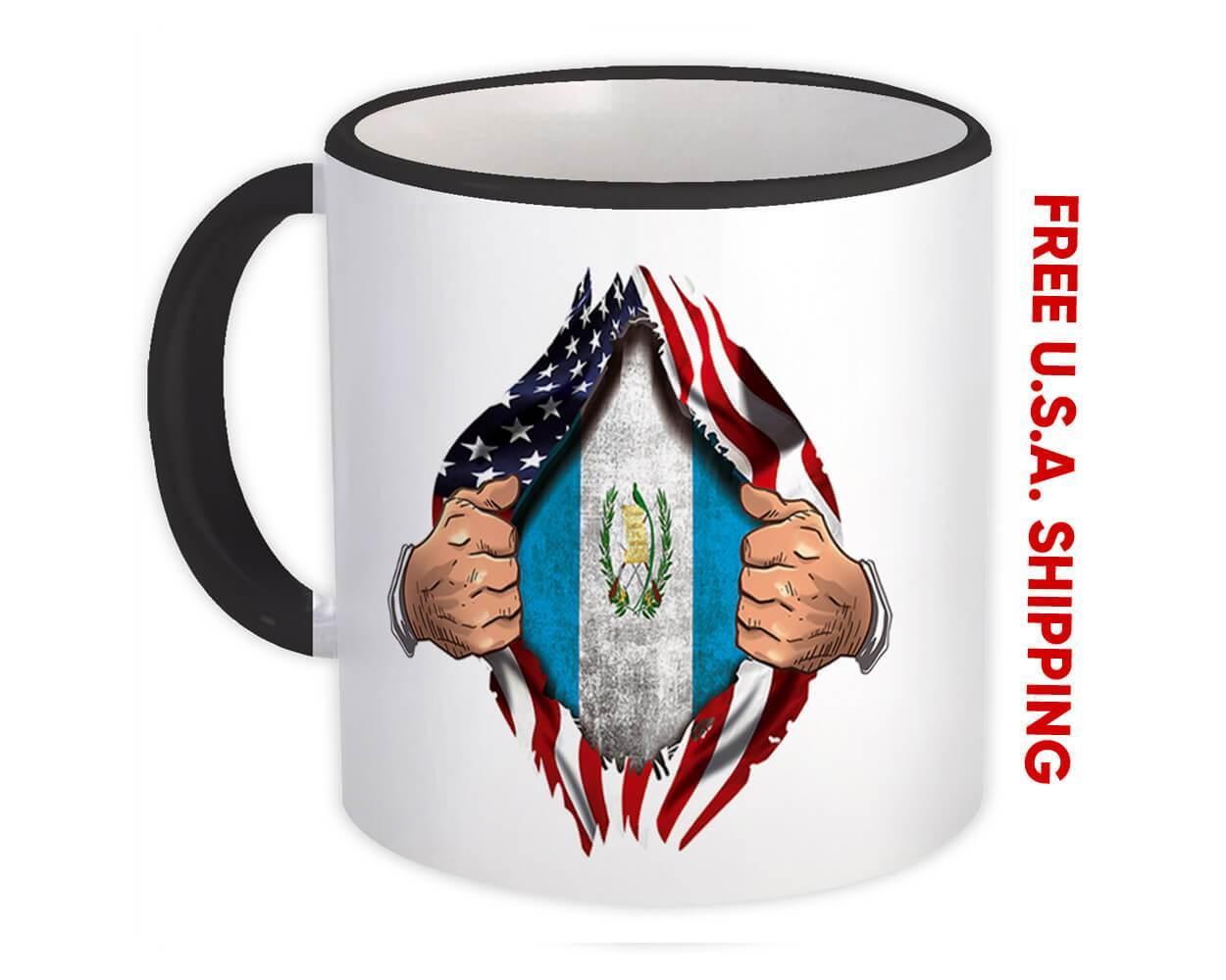 Guatemala : Gift Mug Flag USA Chest American Guatemalan Expat Country
