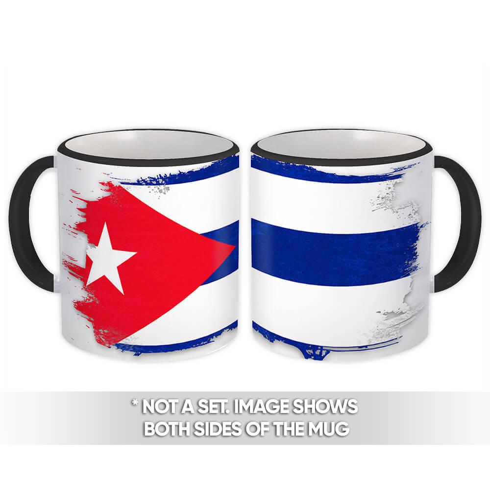 Cuba : Gift Mug Distressed Flag Vintage Cuban Expat Country Made In USA