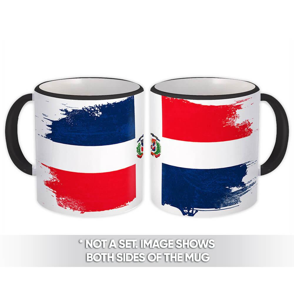 Dominican Republic : Gift Mug Distressed Flag Vintage Dominican Expat Country