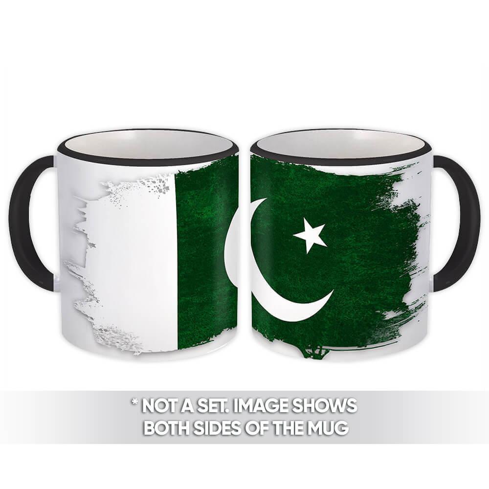 Pakistan : Gift Mug Distressed Flag Vintage Pakistani Expat Country