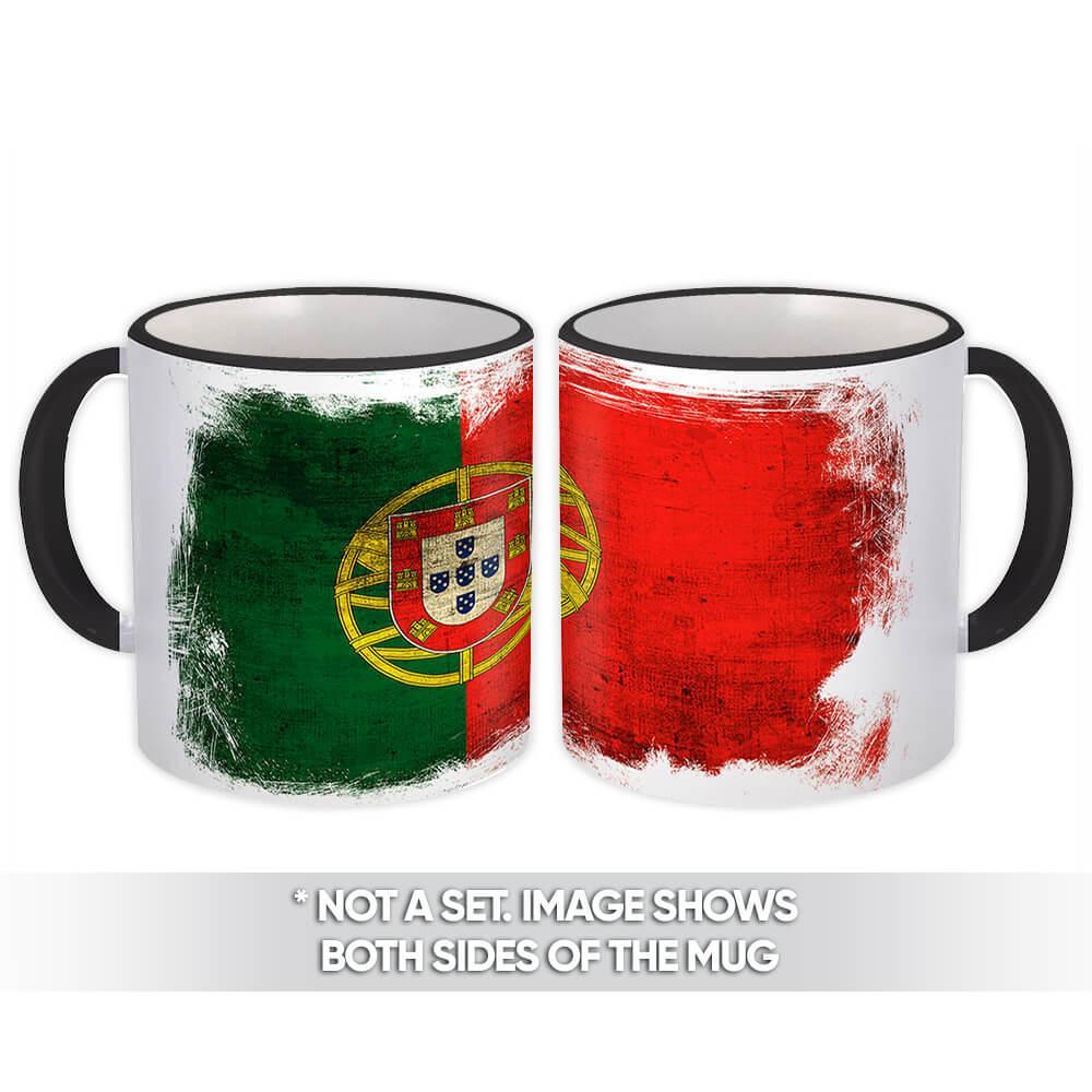 Portugal : Gift Mug Distressed Flag Vintage Portuguese Expat Country