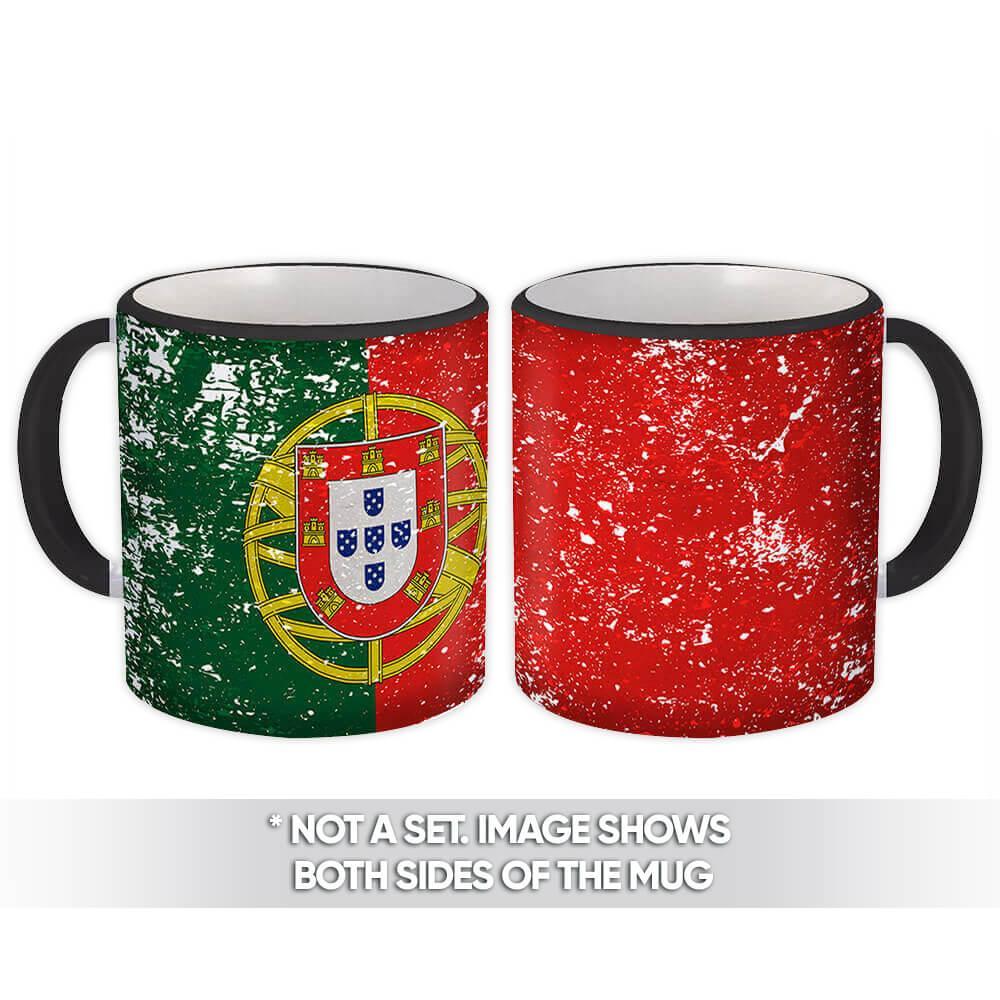 Portugal : Gift Mug Flag Retro Artistic Portuguese Expat Country
