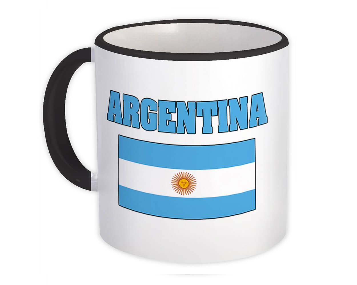 Argentina : Gift Mug Flag Chest Argentine Country Expat