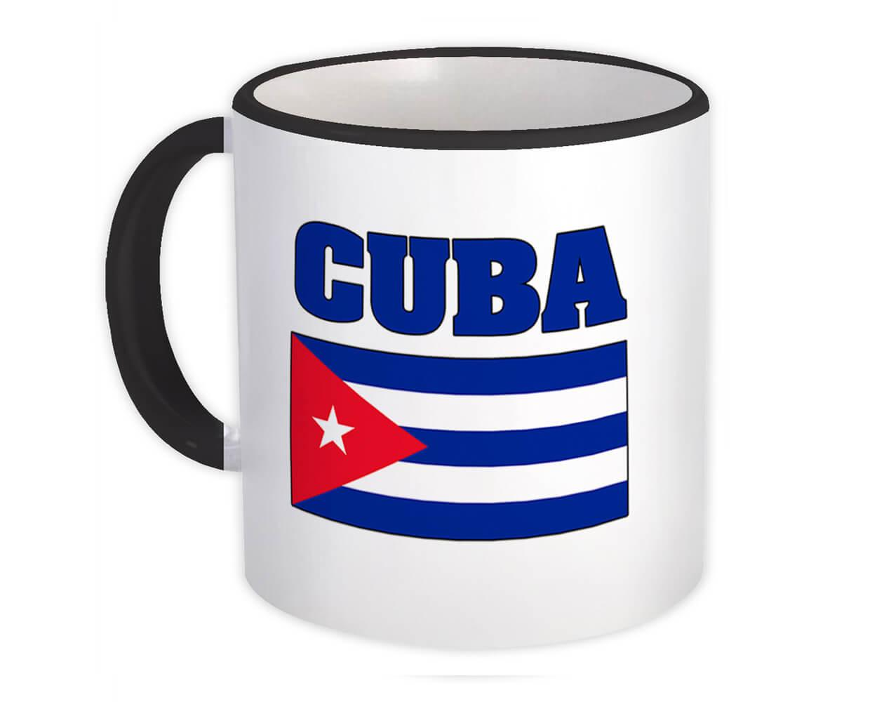 Cuba : Gift Mug Flag Chest Cuban Country Expat Made In USA