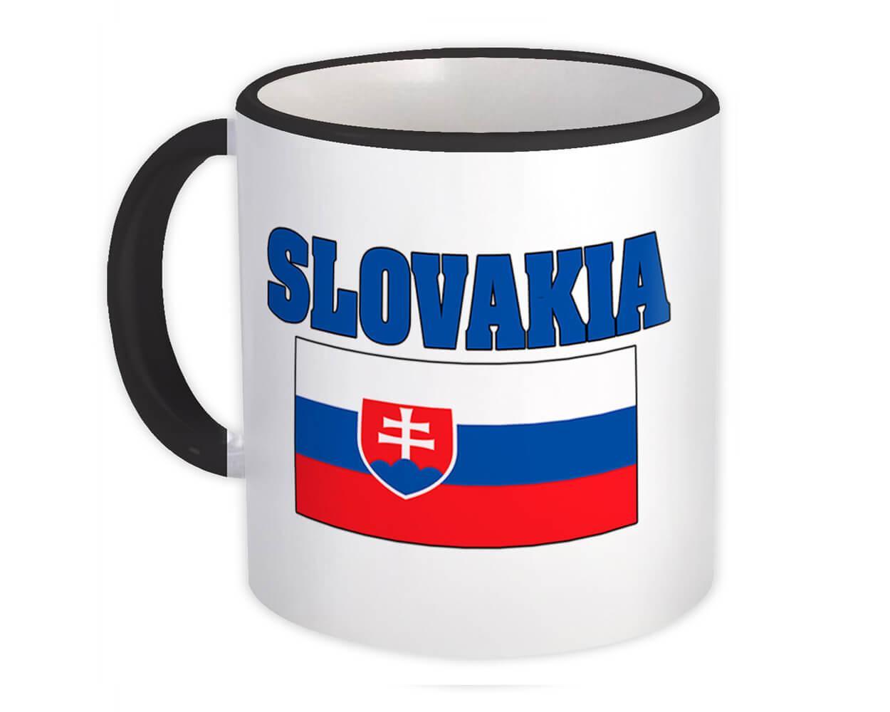 Slovakia : Gift Mug Flag Chest Slovak Country Expat Patriotic Flags Travel Souvenir