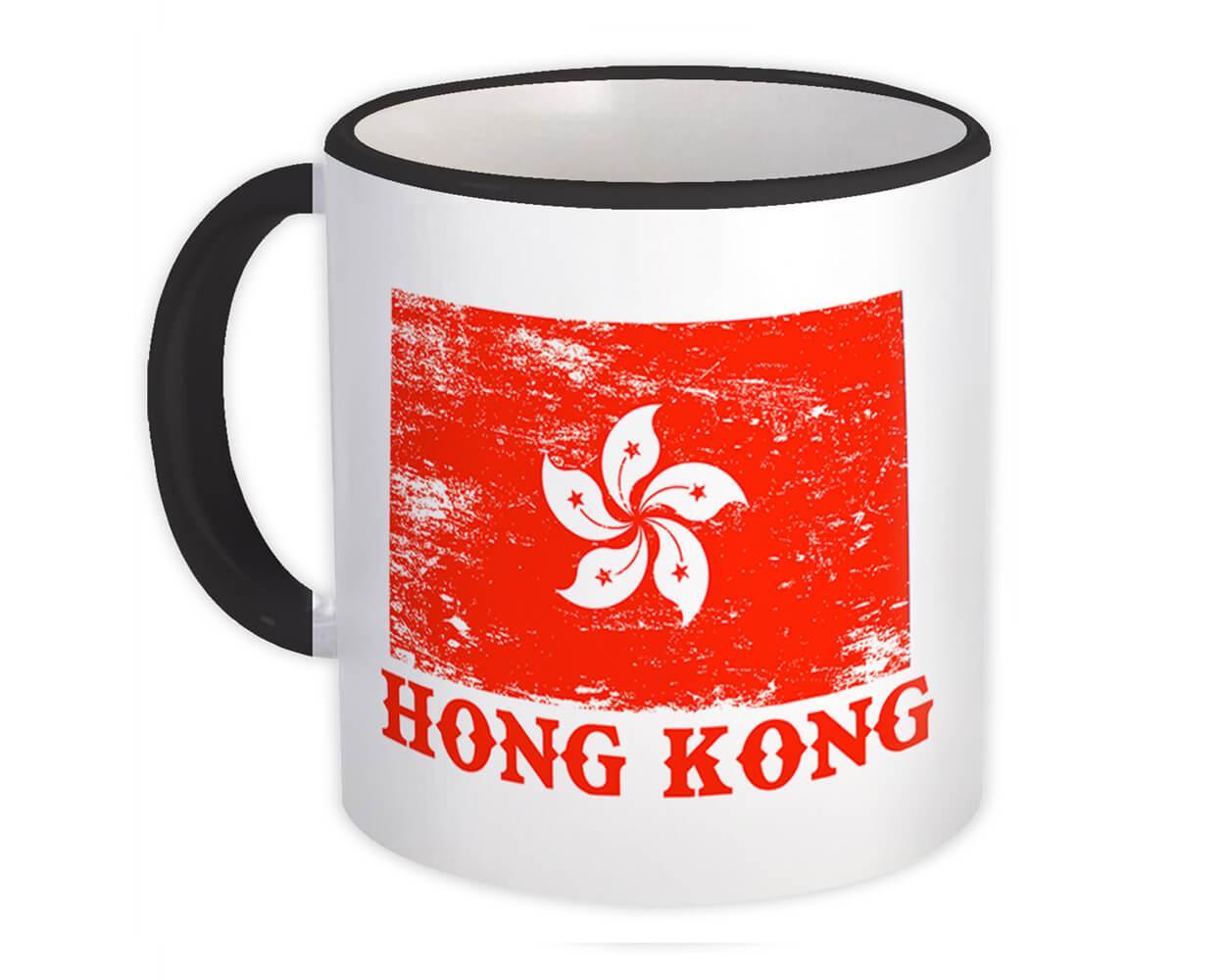 Hong Kong : Gift Mug Distressed Flag Patriotic Hong Konger Expat Country