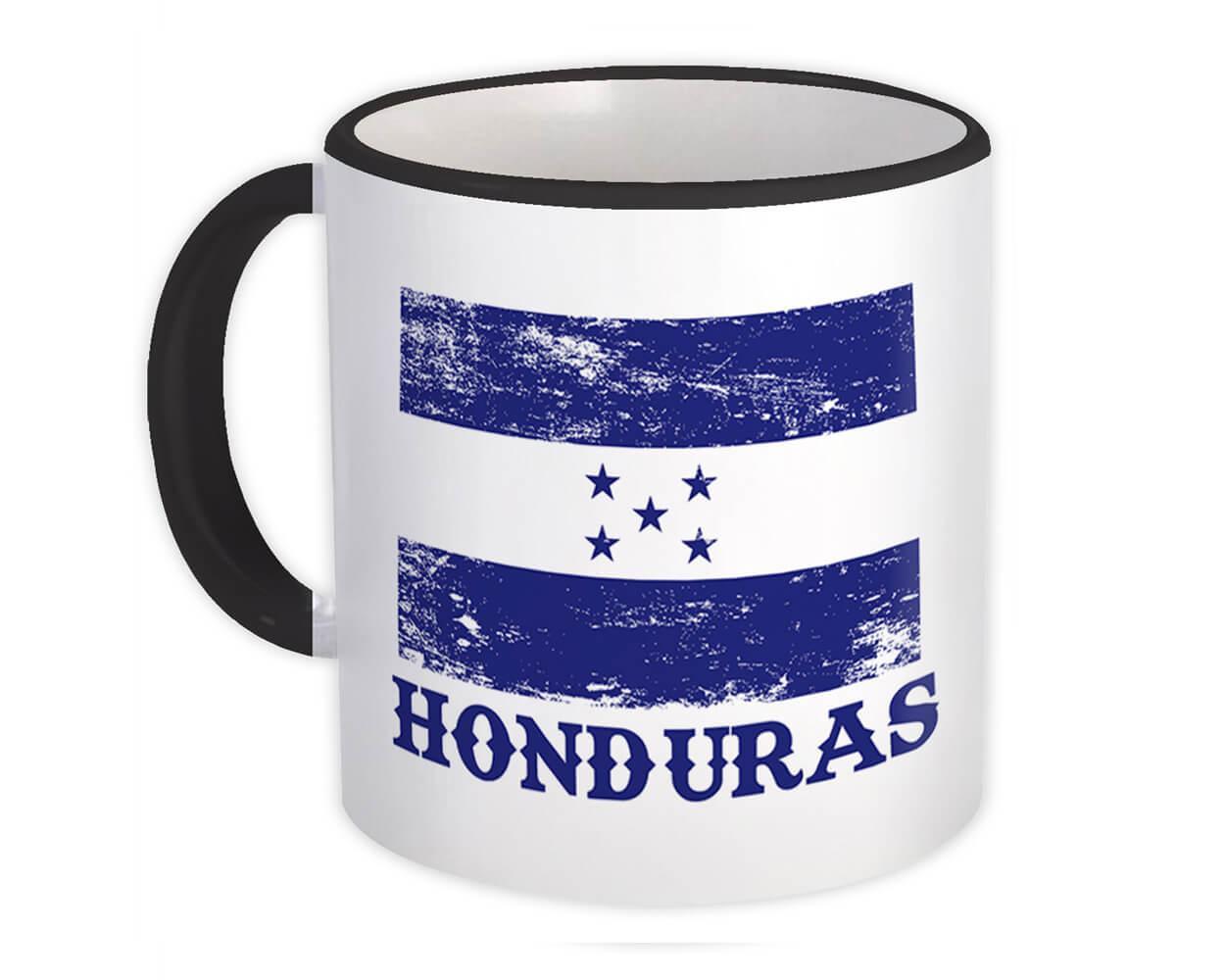 Honduras : Gift Mug Distressed Flag Patriotic Honduran Expat Country