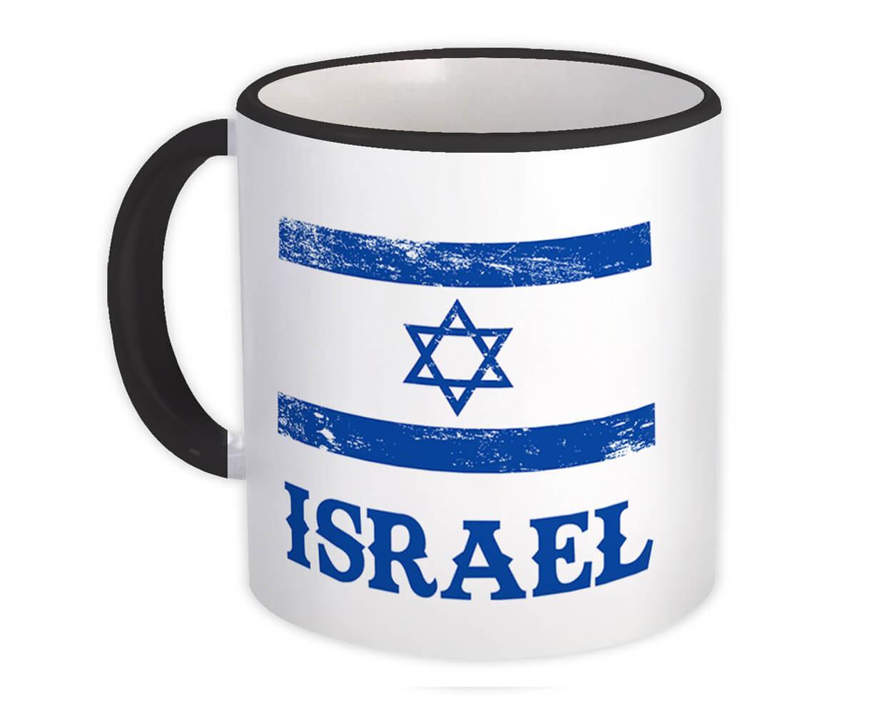 Israel : Gift Mug Distressed Flag Patriotic Israeli Expat Country