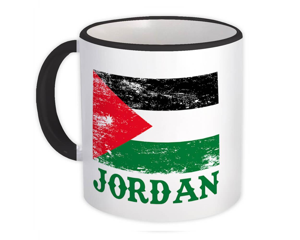Jordan : Gift Mug Distressed Flag Patriotic Jordanian Expat Country