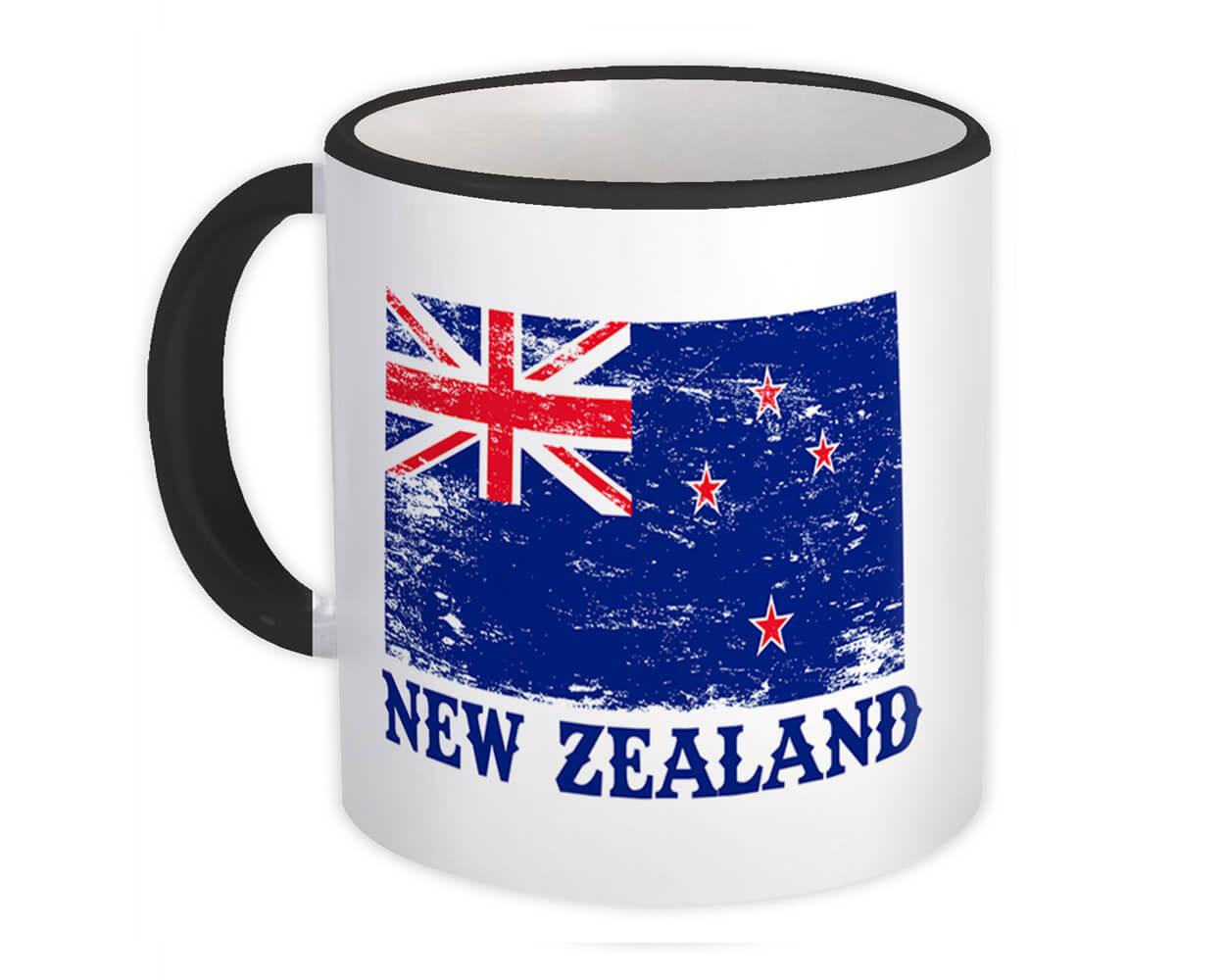 New Zealand : Gift Mug Distressed Flag Patriotic New Zealander Expat Country