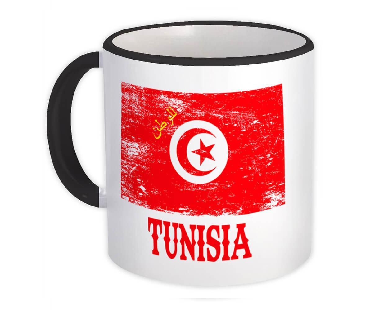 Tunisia : Gift Mug Distressed Flag Patriotic Tunisian Expat Country