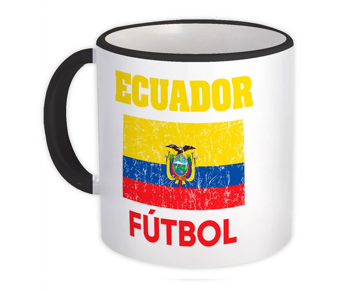 Ecuador : Gift Mug Distressed Flag Soccer Futbol Team Ecuadorian Country