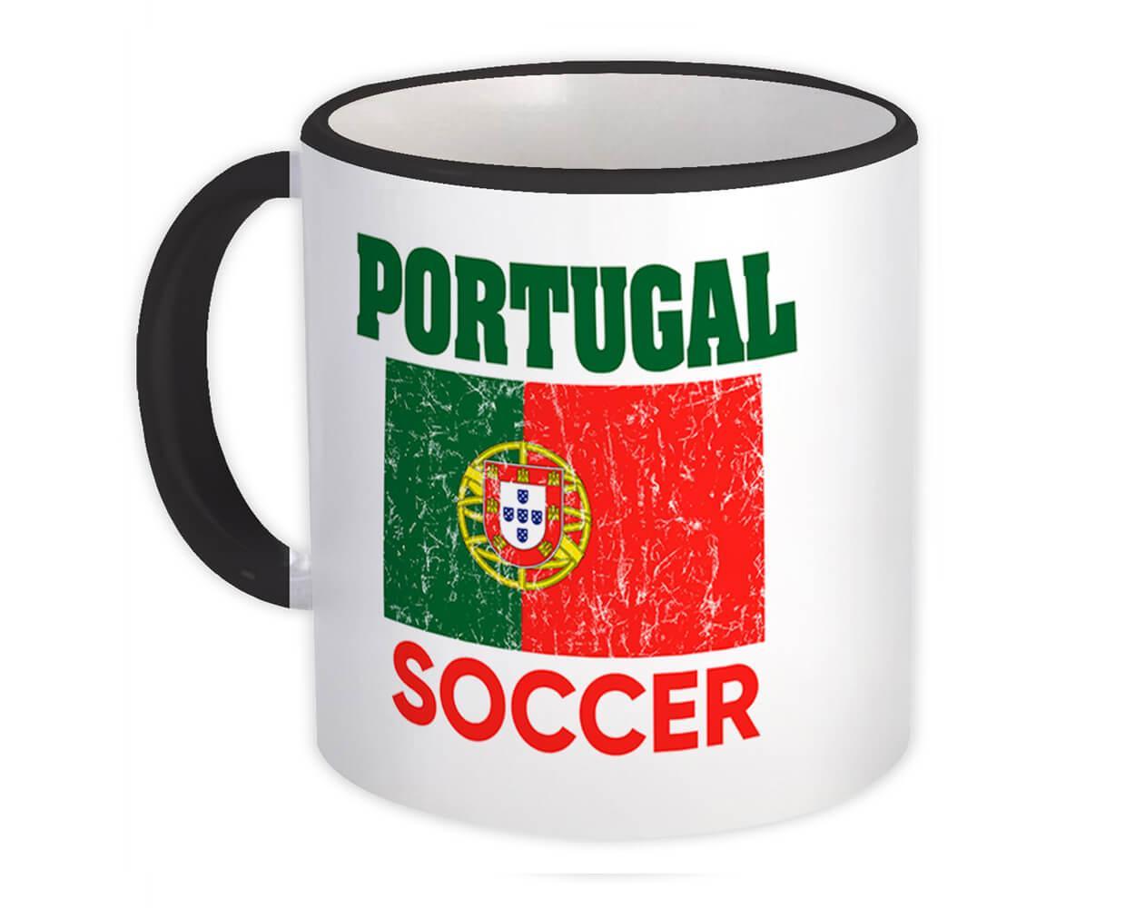 Portugal : Gift Mug Distressed Flag Soccer Football Team Portuguese Country